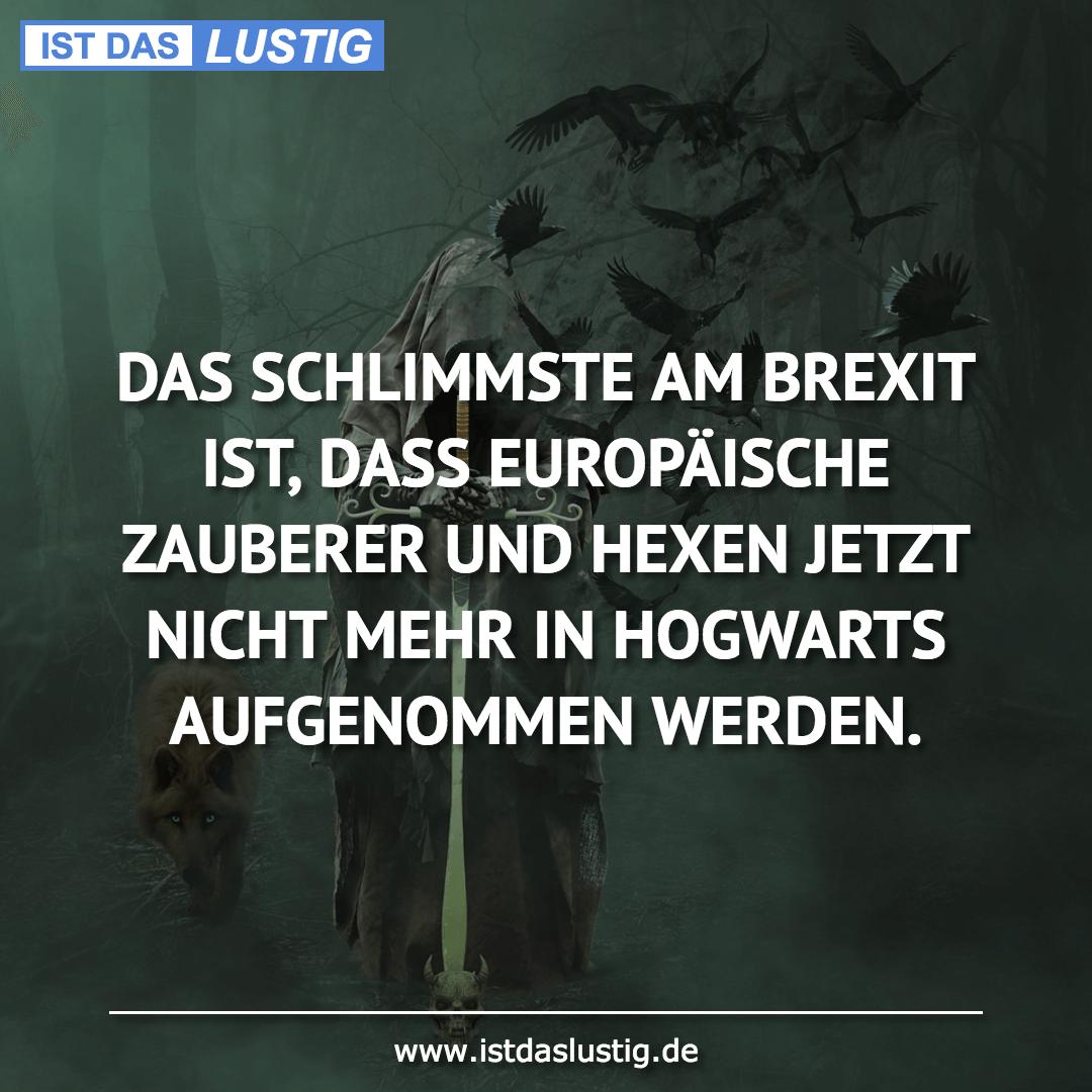 Lustiger BilderSpruch - DAS SCHLIMMSTE AM BREXIT IST, DASS EUROPÄISCHE ...