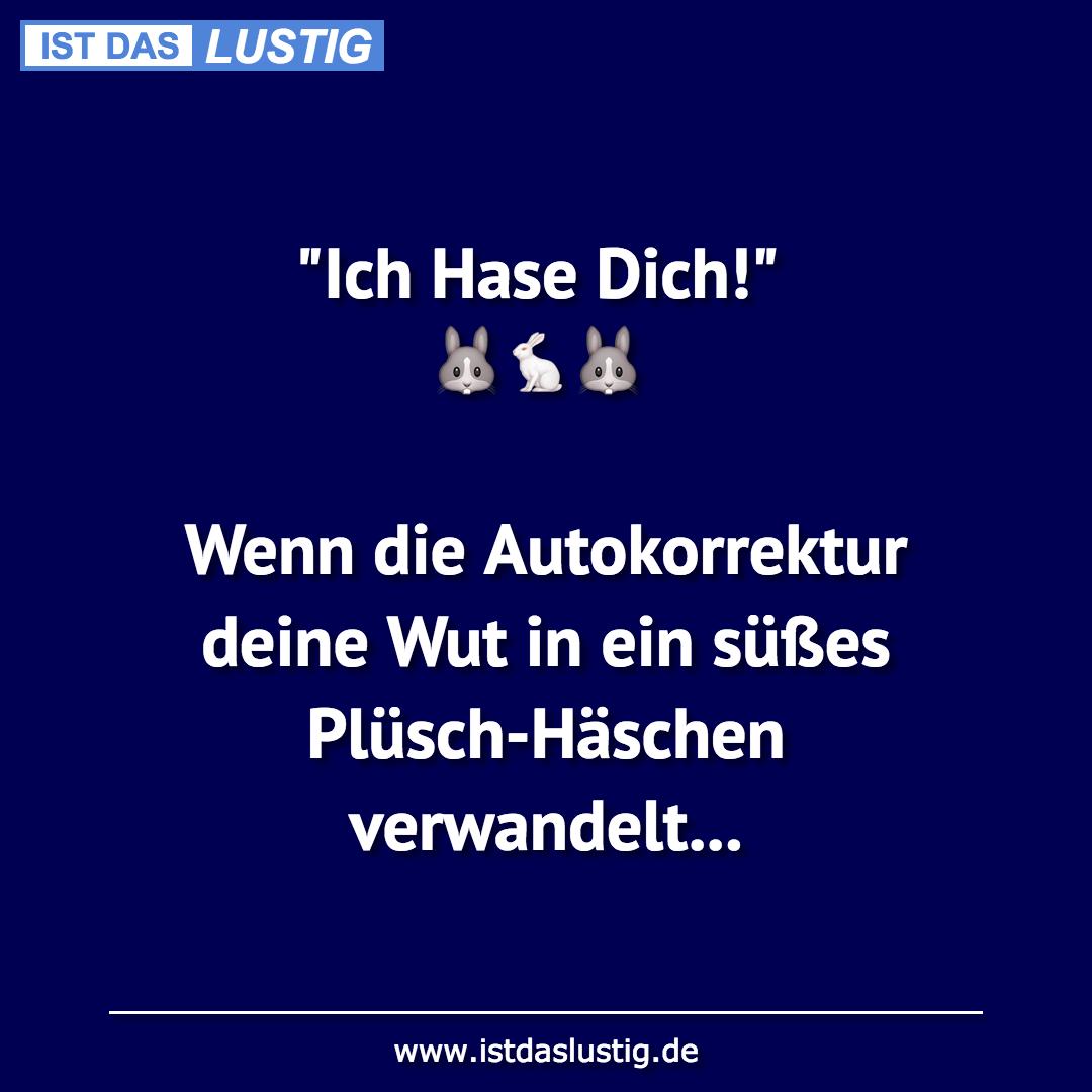 """Lustiger BilderSpruch - """"Ich Hase Dich!"""""""