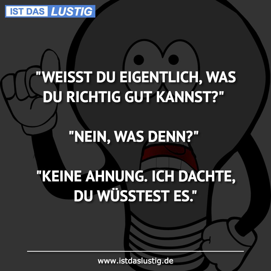 """Lustiger BilderSpruch - """"WEISST DU EIGENTLICH, WAS DU RICHTIG GUT..."""