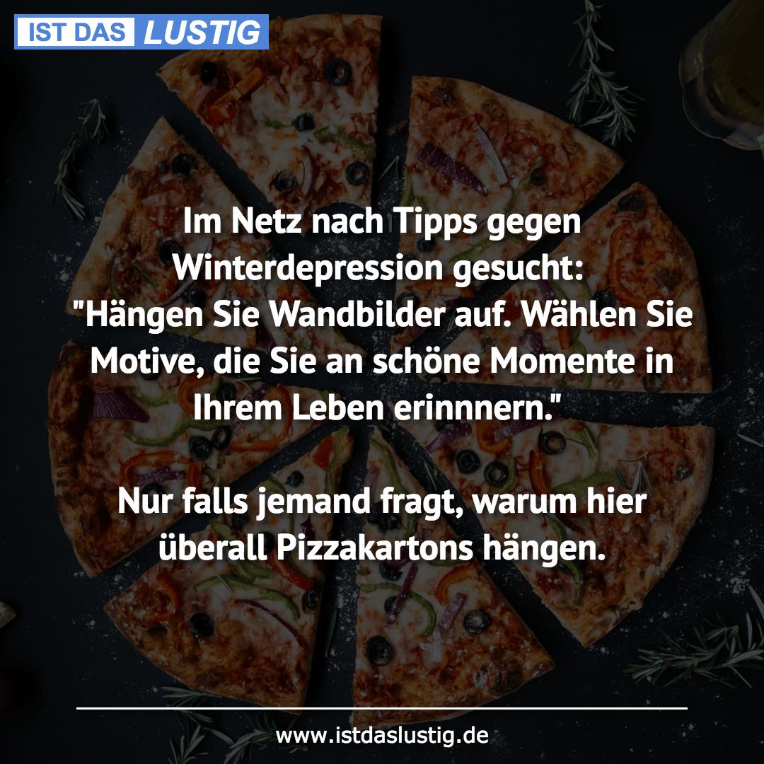 Lustiger BilderSpruch - Im Netz nach Tipps gegen Winterdepression gesuc...