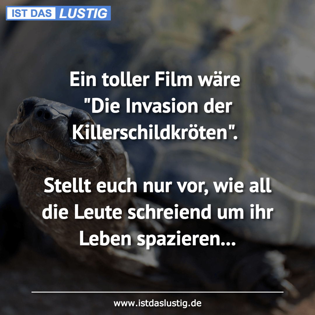 """Lustiger BilderSpruch - Ein toller Film wäre """"Die Invasion der..."""