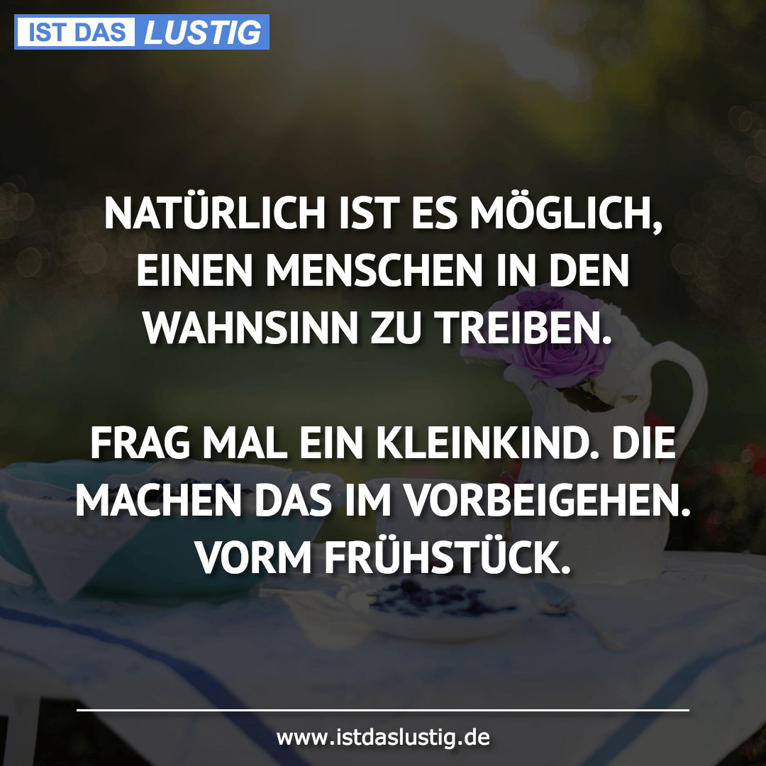 Lustiger BilderSpruch - NATÜRLICH IST ES MÖGLICH, EINEN MENSCHEN IN DEN...