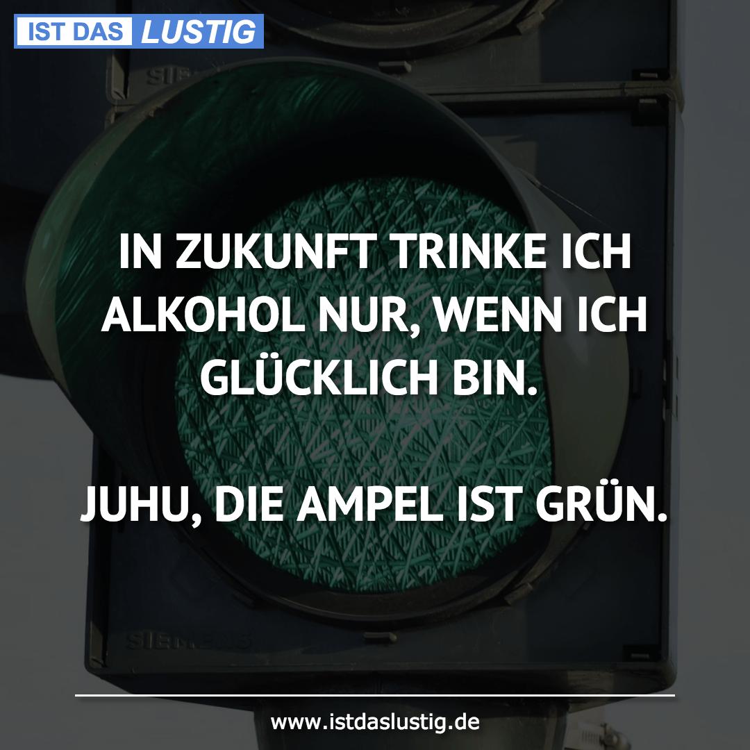 Lustiger BilderSpruch - IN ZUKUNFT TRINKE ICH ALKOHOL NUR, WENN ICH...