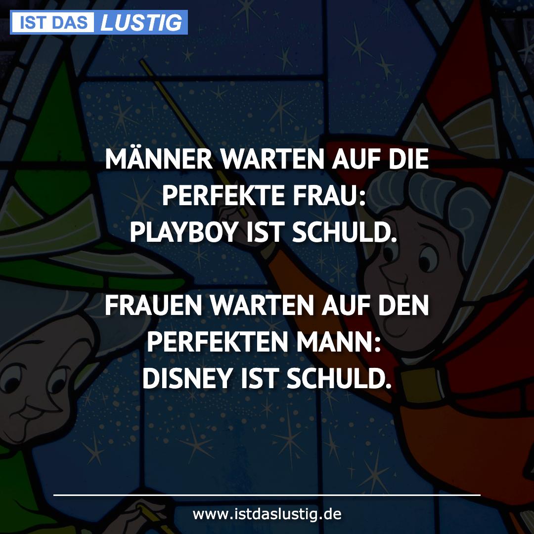 Lustiger BilderSpruch - MÄNNER WARTEN AUF DIE PERFEKTE FRAU: PLAYBOY...