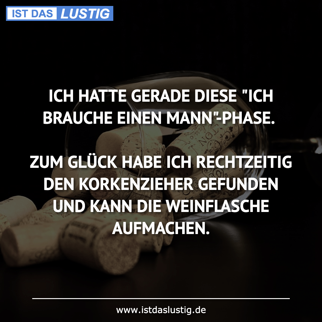 """Lustiger BilderSpruch - ICH HATTE GERADE DIESE """"ICH BRAUCHE EINEN..."""