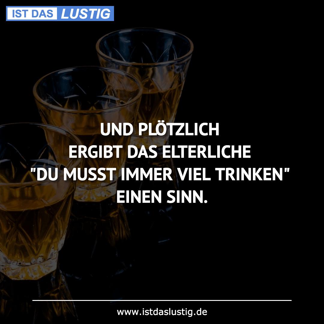 """Lustiger BilderSpruch - UND PLÖTZLICH ERGIBT DAS ELTERLICHE """"DU MUSST..."""