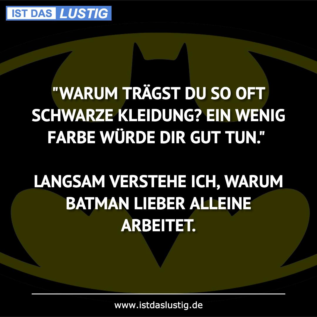 """Lustiger BilderSpruch - """"WARUM TRÄGST DU SO OFT SCHWARZE KLEIDUNG? EIN..."""