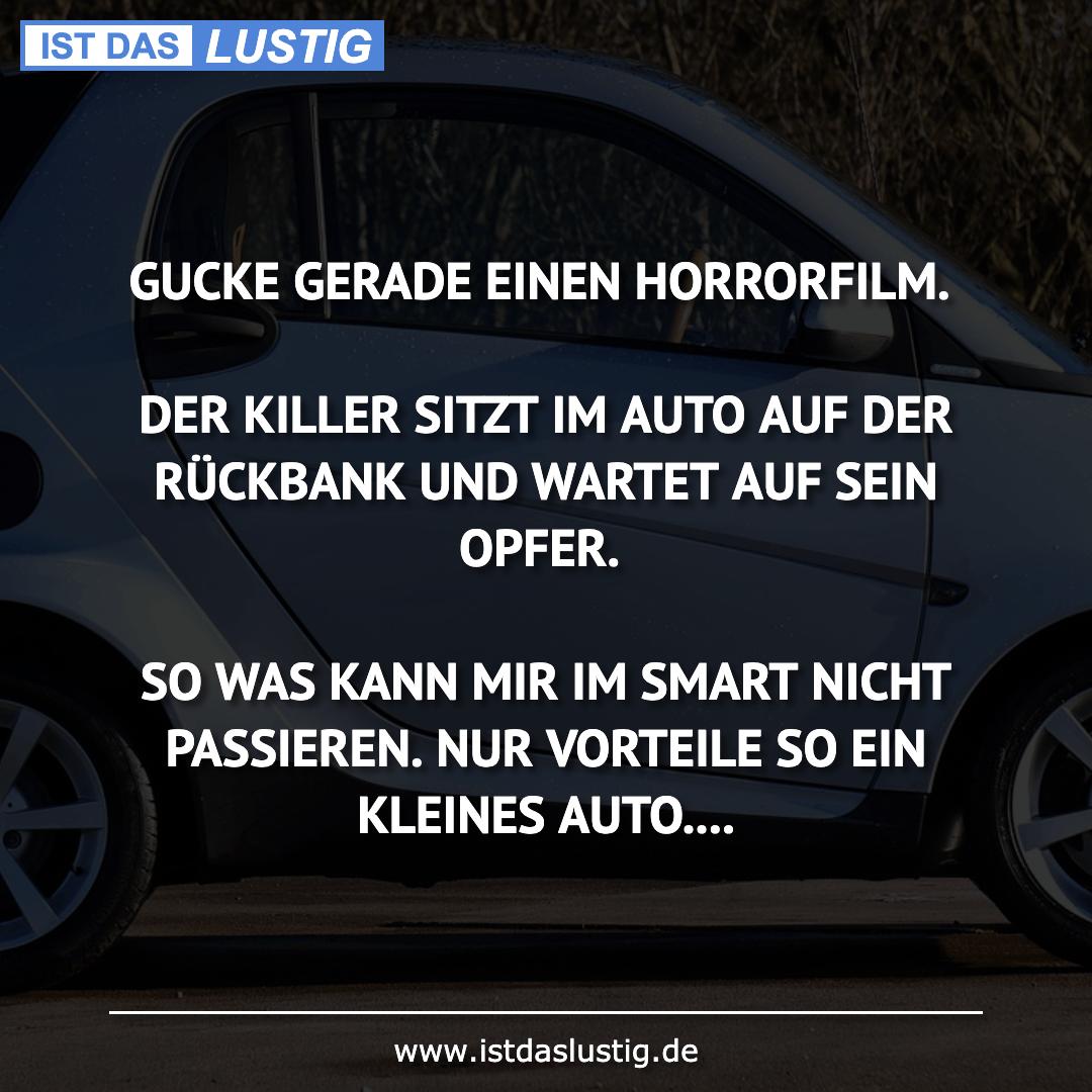 Lustiger BilderSpruch - GUCKE GERADE EINEN HORRORFILM.  DER KILLER...