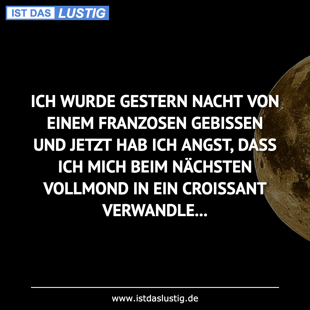 Lustiger BilderSpruch - ICH WURDE GESTERN NACHT VON EINEM FRANZOSEN...