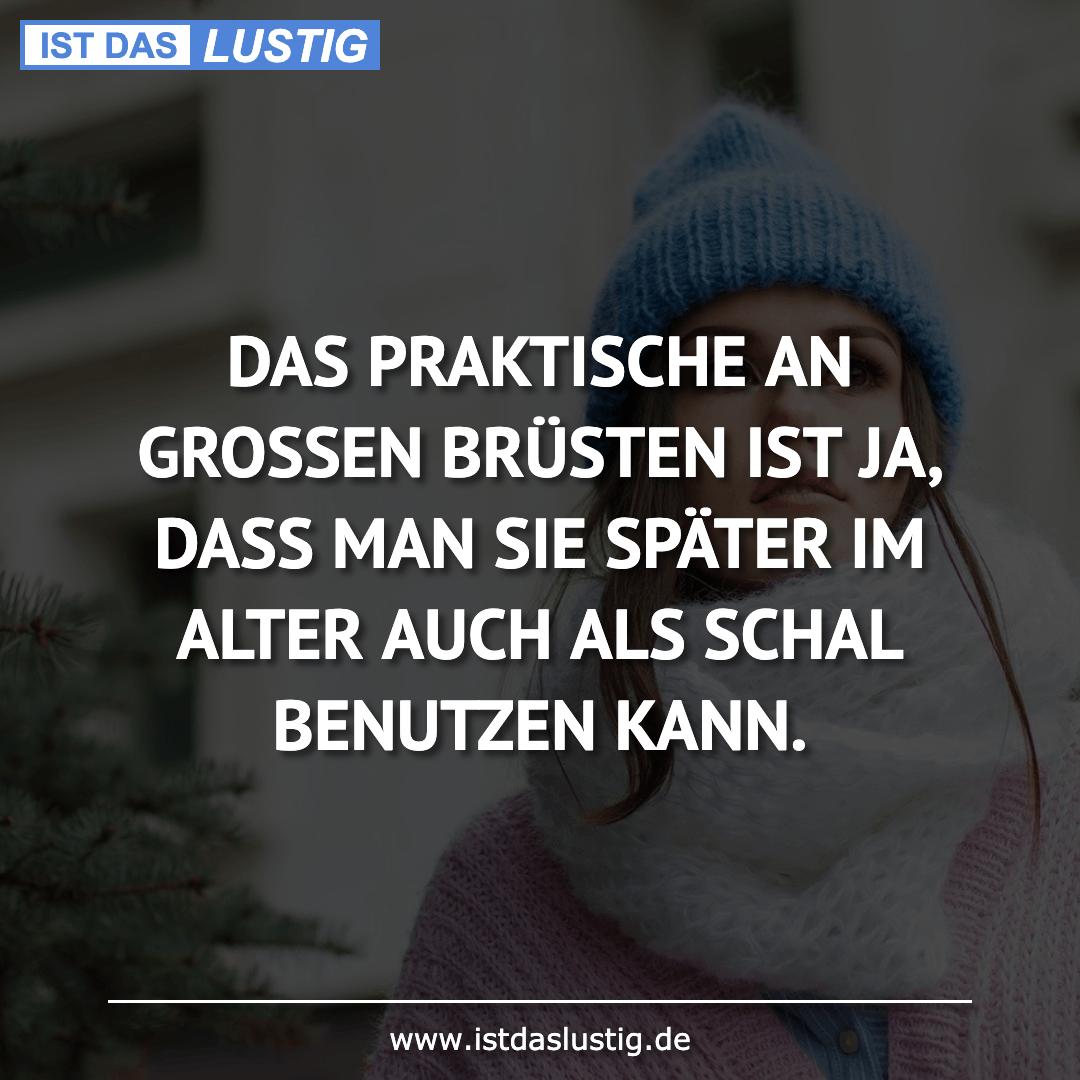 Lustiger BilderSpruch - DAS PRAKTISCHE AN GROSSEN BRÜSTEN IST JA, DASS...